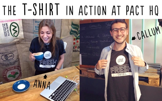 Free T-shirts for Pact Coffee customer recommendations